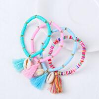 HOT Rope Gift Women Shell Charm Bracelet Friendship Bracelets Tassel Boho