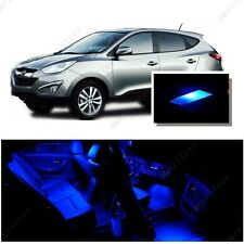 For Hyundai Tucson 2010-2016 Blue LED Interior Kit + Blue License Light LED