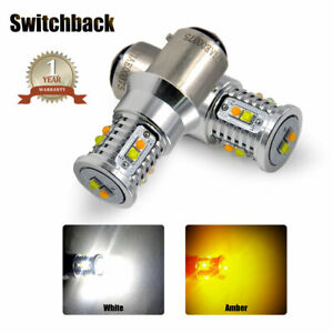 Switchback LED Front Turn Signal Parking DRL Light Bulb For Chevy Blazer 1990-94