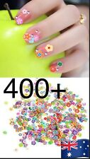 400pcs 3D Nail Art Tips Fimo Decoration Flower Animal Fruit Slice Clay Sticker