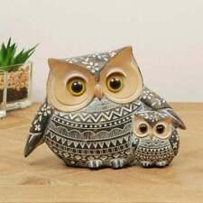 Widdop & Co. African Style Ornate Owl & Owlet 11cm Figurine 69357