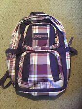 Used Jansport Backpack.  Purple Plaid.