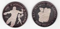 CONGO  - SILVER PROOF 1000 FRANCS COIN 1995 YEAR ATLANTA OLYMPIC GAMES