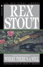 Nero Wolfe: Where There's a Will 8 by Rex Stout (1995, Paperback)
