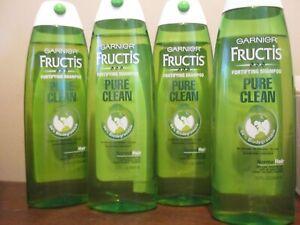 4x Garnier Fructis Fortifying Shampoo Pure Clean Formula For Normal Hair 13 oz