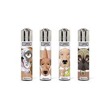 Clipper Classic Original Feuerzeug Serie 'Hunde #2' 4 Stück Feuerzeuge NEU Dogs