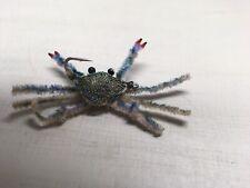 Saltwater Flies,Flexo Crab Blue Crab Size 4 Permit,bonefish,drum,snoo k