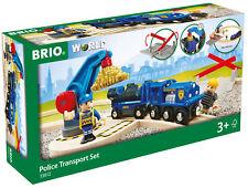 33812 BRIO Police Gold Transport Train Set Wood & Plastic Railway inc 19 pcs 3+