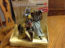 Schleich World of Knights Mounted Knight With Sword Yellow Knight BNIB #70034