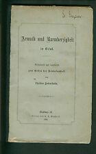 Armuth und Barmherzigkeit in Elsaß  zum Besten der Neuhofanstalt 1880 Straßburg