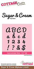 "COTTAGE CUTZ  NEW  ""SUGAR & CREAM ALPHABET""  CC4X8-005  FOR SCRAPBOOKING & CARDS"