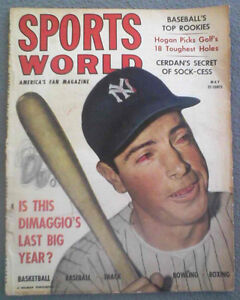 Sport's World, May 1949, Joe DiMaggio - Yankees Cover, Poor Condition!