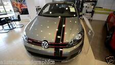 "Volkswagen Jetta Golf GTI Passat 8"" 2 Color Offset Stripes Stripe decals Decal"