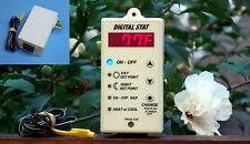 Digital Thermostat, digital stat, plug in thermostat for green house / other