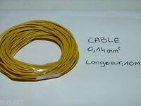 BOBINE 10 METRES DE CABLE ELECTRIQUE JAUNE DE SECTION 0,14 mm POUR ACCESSOIRES