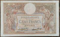Billet 100 francs LUC OLIVIER MERSON 29 = 12 = 1932 FRANCE R.38328