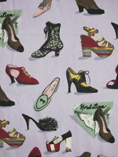 8 Yards Nick & Nora Nordstrom Shoe Lover Fabric Flannel Heels Boots Loafers Pump