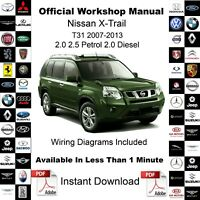 Nissan X-Trail T31 2007-2013 Factory Service Workshop Repair Manual