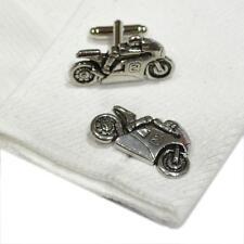 Silver Pewter Sports Motorbike Cufflinks Handmade in England Cuff Links New