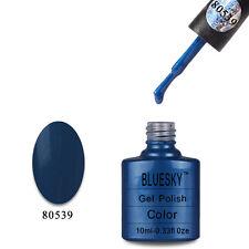 80539 Bluesky Soak Off UV LED Gel Nail Polish Midnight Swim Sparkle 539
