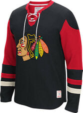 Chicago Blackhawks CCM Long Sleeve Jersey Crew Shirt NHL Sweatshirt