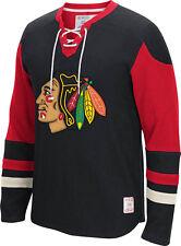Chicago Blackhawks CCM Long Sleeve Jersey Crew Shirt NHL Sweatshirt