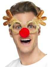 Reindeer Comedy Glasses Christmas Fancy Dress Rudolph Accessory