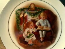Vtg 1983 Avon Plate-Enjoying The Night Before Christmas-New In Box-22K Goldtrim