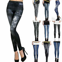 Women Stretchy Skinny Jeans Denim Pencil Pants Summer Slim Fit Jeggings Trousers