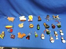 Lot of 24 Christmas Ornaments
