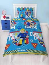 Fireman Sam Cool Single Duvet Quilt Cover Kids Childrens Boys Bedroom Bedding