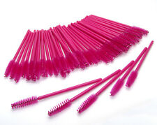 Hot Pink Eyelash Mascara Disposable Wands Lash Brushes Spoolers Extension Colour
