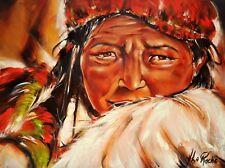 "ORIGINAL 36"" X 48"" Josée La Roche Québec Artist - Reflet du Tibet OIL ON CANVAS"