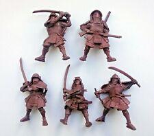 Set of 5 Samurai Warriors Plastic Toy Soldier 54mm 1:32 scale Tehnolog Fantasy