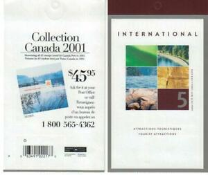 2002 Canada SC# BK 260b-Tourist Attraction-booklet of 5-M-NH
