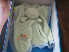 """DOUDOU 2987 / PLAT GRANDE COUVERTURE GRENOUILLE """"EARLY DAYS PRIMARK"""" BRODE...."""