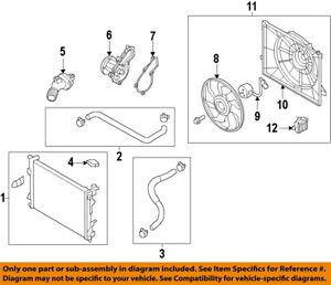 HYUNDAI OEM 17-18 Elantra Radiator-Lower Hose 25415F2100