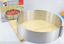 Retractable Stainless Steel Circle Mousse Ring Adjustable Cake Pan Size Mold 1