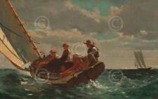 Breezing Up A Fair Wind Winslow Homer Children Boat Sailboat Print Poster 28x20