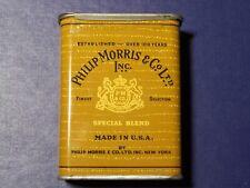 Vintage Original Philip Morris Cigarettes Pocket Tin  EMPTY    FREE SHIP