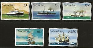 Mauritius Scott #419-23, Singles 1976 Complete Set FVF MNH