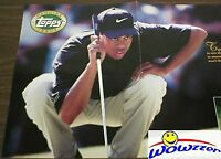 1997 Topps Tiger Woods REAL ROOKIE HUGE 26 x 11 Point of Sale Poster Very Rare!