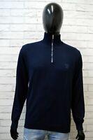 Paul & Shark Uomo Taglia M Maglione Felpa Sweater Cardigan Pullover Cotone Blu
