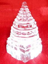 Sphatik Meru Shree Yantra / Quartz Crystal Shri yantra - Lab certified