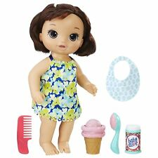Baby Alive Magical Scoops Baby Brunette Pretend Play Doll Ice Cream Playset Toy