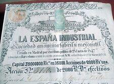 New listing La EspaÑA Industria Barcelona Stock 2000 Reales VellÓN 1847 Spain Xviii Isabel