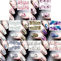 Nail Art Water Decal Manicure Transfer Sticker Tips Pretty Flower Design FLA