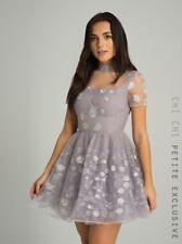 Chi Chi London Petite Mona Dress Purple Size UK 12 rrp £74.99 DH079 PP 03