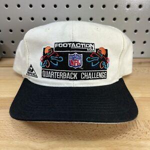 RARE Vintage 90's Footaction USA NFL Quarterback Challenge White Hat Apex Cap