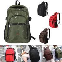 Waterproof Men Boy Large Backpack Rucksack Sport Travel Hiking School Bag Black